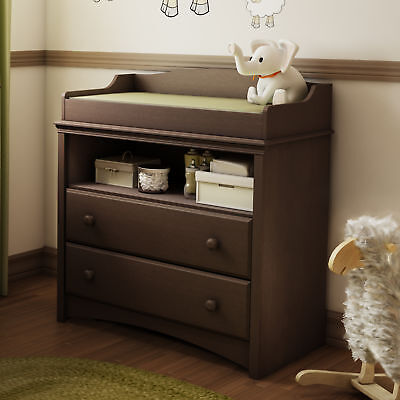 South Shore Angel Changing Table With Drawers Espresso Brown