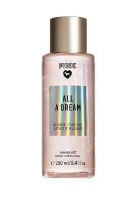 🌺 PINK VICTORIA'S SECRET NEW! ALL A DREAM SHIMMER Fragrance Body Mist  250ml 🌺
