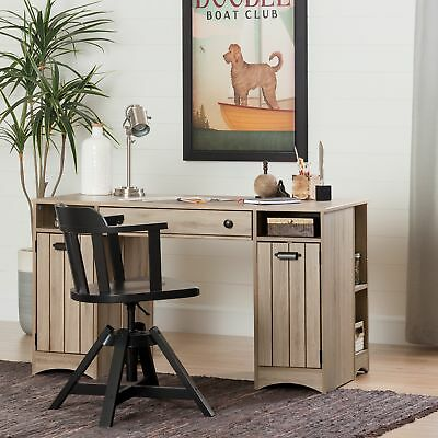 Exceptionnel South Shore Artwork Craft Table With Storage Rustic Oak Beige
