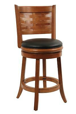 "Sumatra Swivel Stool Brush Oak 19.5""D x 18""W x 37.5""H"