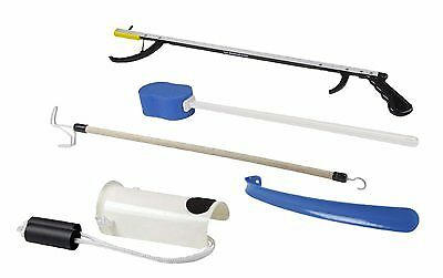 "FabLife Hip Kit: 26"" Reacher, contoured sponge, formed sock aid, 18"" plastic sho"