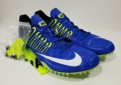 the latest c27f6 a82f8 Nike Zoom Celar 5 Mens Track   Field Spikes Blue White Size 12
