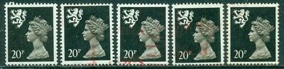 Great Britain Sg-S64, Scotland Scott # Smh-39, Used, 5 Stamps, Great Price!