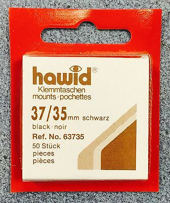 *HAWID** 37/35mm STAMP MOUNTS (50 PER PACK) ~ONLY £3.85!! FREE DELIVERY!!⭐️