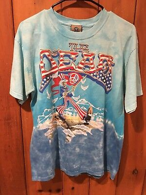 Lot Of 2 Grateful Dead Wave That Flag Celtic Men M 2004 Tie Dye Shirt Steal Face