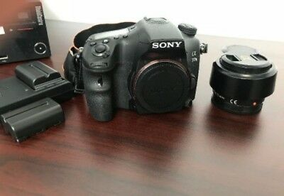 Sony Alpha a77 II 24.3MP Digital SLR Camera w/ lens, batteries, viewfin