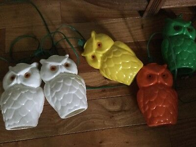 Vintage blow mold owl party lights rv camping patio string of 7 12 vintage blow mold owl party lights rv camping patio string of 7 12 feet working workwithnaturefo