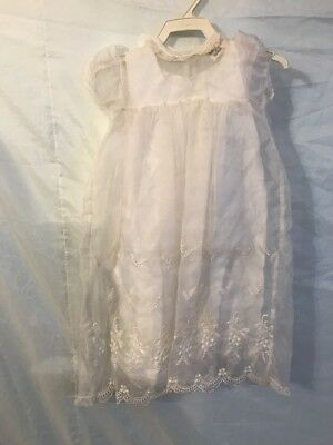 MADONNA BY HADDAD White Christening Gown and Coat, Size: 6 - 12 mo