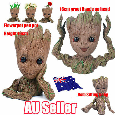 Guardians of The Galaxy Baby Groot Figure Flowerpot Pen Pot Toy Decor Kid Gift N