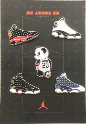 classic fit 3b0e7 5f261 Air Jordan Xiii 13 Retro Og He Got Game Bred Playoff Db Sneakers Shoes Pin  Set