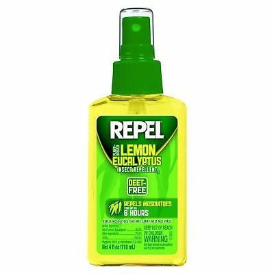 Repel Lemon Eucalyptus 4oz Natural Insect Repellent with Pump Spray DEET-Free