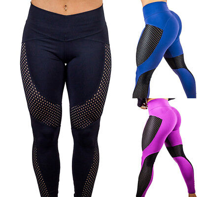 Women's Yoga Workout Gym Stretch Leggings Fitness Running Sports Pants Trouser