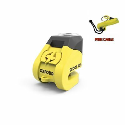 Oxford Disc Lock Xd5 Yellow Scooter Disc Lock Perfect For Vespa Px T5 Lml