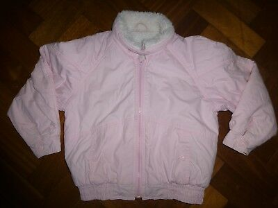 Vintage 1970's/80's Mothercare Logo pink coat height 120cm thus 6-7years