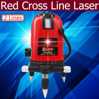 3D Laser Level 2 Line Self Leveling 360° Rotary Red Cross Measuring Tool Set