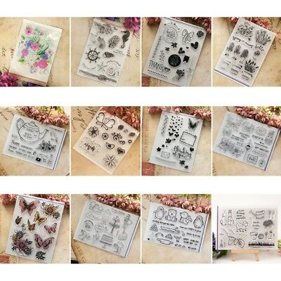 DIY Transparent Clear Silicone Rubber Stamp Sheet Cling Scrapbooking Cards Decor