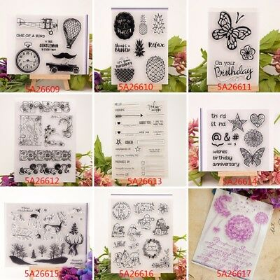 Transparent Silicone Clear Rubber Stamp Sheet Cling Scrapbooking Card DIY Decor