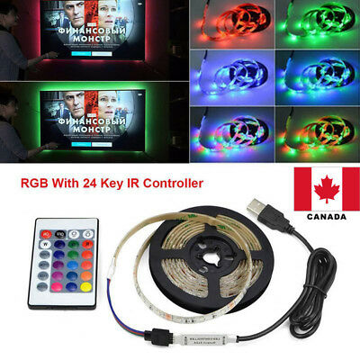 Strip Light USB 5V LED 5050 RGB Waterproof TV Background Lamp Canada Stock