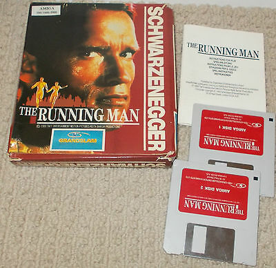 Vintage Retro Schwarzenegger The Running Man for Amiga 500 / 1000 / 200 + Manual