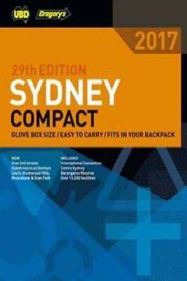 Sydney Compact Street Directory 2017 29th edition. UBD / Gregorys NEW