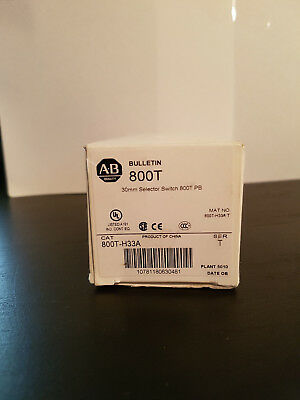 Allen Bradley 800T-H33A 2 Position Maintained Keyed Selector Switch *NEW IN BOX*