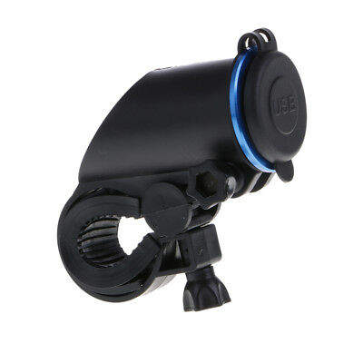 Waterproof 2 USB Ports Fixed Charger Panel Motorcycle Electronics Assy