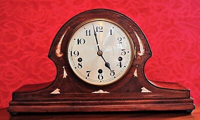 Vintage Art Deco German 'Times Money' Mantel Clock with Westminster Chimes