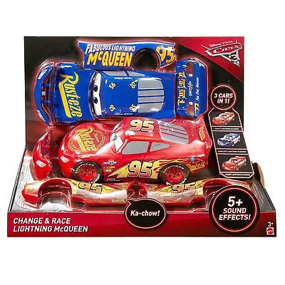 Disney Pixar Cars 3 Lightning McQueen Change & Race With Sound Effects 26cm