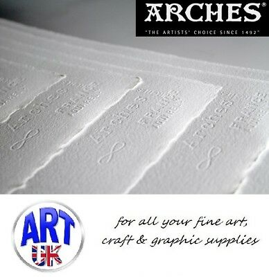 "Arches watercolour paper sheet 300gsm/140lb 40x50cm 16x20"" artists cold pressed"