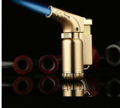 Refillable Butane Cigar Cigarette Windproof Lighter Adjust Jet Flame Torch GIFT