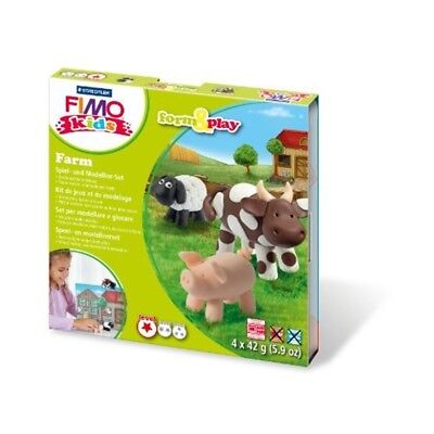 Fimo 7-parts Kids Form And Play Farm Modelling Set, Multi-colour - Set Clay