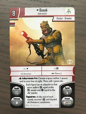 Star Wars Imperial Assault - Bossk Alternate Art FFG Promo Card Regionals 2018