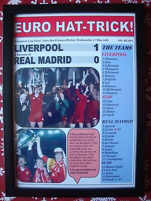Liverpool 1 Real Madrid 0 - 1981 European Cup final - framed print