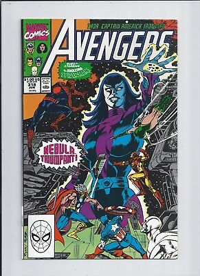 Avengers #318 NM (9.4) 1990 SPIDER-MAN x-over! Infinity Union - Nebula's Powers!