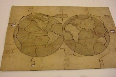 Circa 1851 42 Piece Jigsaw Map of the World Darton and Co  Rare?