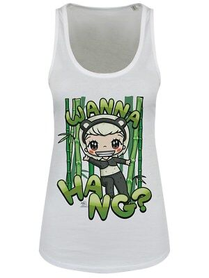 Mio Moon Wanna Hang? Women's White Floaty Tank Vest