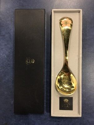 Georg Jensen Denmark Gold Plate Sterling Silver Annual Spoon 1976 Chicory