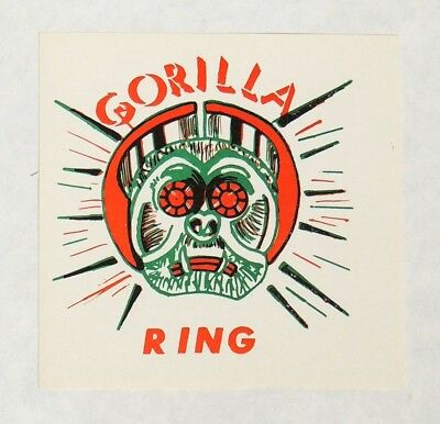 ESZ3826. Vintage GORILLA Toy Ring Vending Machine Paper Ad Piece (1960's) ~~