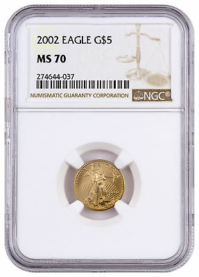 2002 $5 1/10 oz. American Gold Eagle NGC MS70 SKU17162