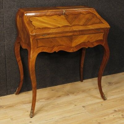 Bureau French secrétaire desk furniture inlaid wood dresser antique style 900