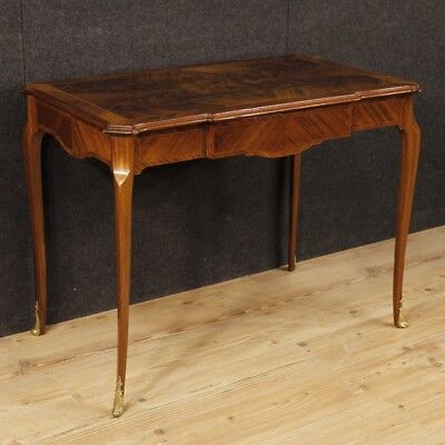 Writing desk French furniture inlaid wood table antique style 900