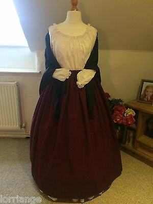 Victorian/ Civil War/Theatre Budget Skirt & Shawl Any Size Any Colour Combo