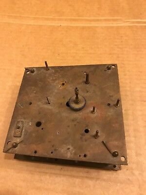 Vintage Brass Clock Part With Crown Emblem & 26626 / Clock Parts Only