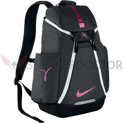 a0205f3abc41 Nike Hoops Elite Max Air Team 2.0 Basketball Backpack Anthracite Black Pink  Fire