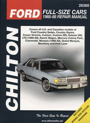 Ford Full-Size Cars, 1968-88, Chilton Automotive Books