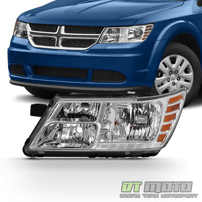 2009-2018 Dodge Journey Headlight Headlamp w/ Chrome Trim 09-18 Left Driver Side