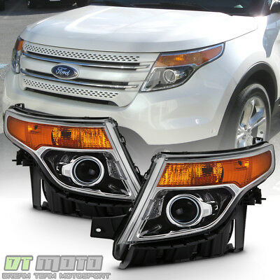 2011 2012 2013 2014 2015 Ford Explorer Halogen Headlights Headlamps Left+Right