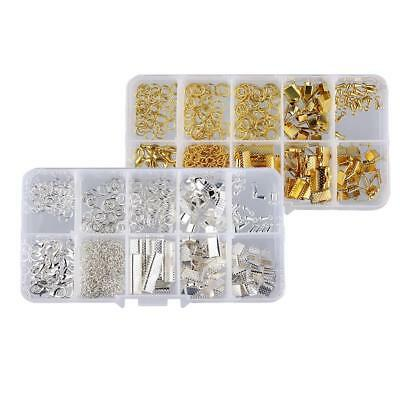 2 Set Jewelry Findings Starter Kit Beading Making Kits with Lobster Clasps
