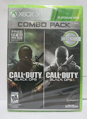 Call of Duty Black Ops I & II Combo Pack XBOX 360 & XBOX One Compatible SEALED