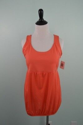 Mumberry Maternity Large Tank Top Coral Pregnancy Belly Support Workout NEW